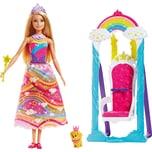 Mattel Barbie Dreamtopia Regenbogen-Königreich Prinzessinnen-Schaukel Puppe