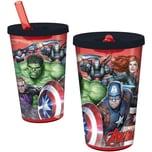 P:OS Trinkbecher mit Strohhalm Avengers