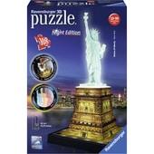 Ravensburger 3D Puzzle Bauwerke Freiheitsstatue mit Licht 108-teilig