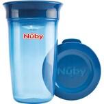 """Nuby 360° Trinklernbecher """"WONDER CUP"""" Basic 300 ml blau"""