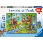 Ravensburger 2er Set Puzzle je 24 Teile 26x18 cm Tiere des Waldes