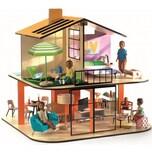 Djeco Puppenhaus Farbiges Haus