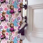 Decofun Tapete Die Eiskönigin Anna und Elsa Pink 10 m x 53 cm