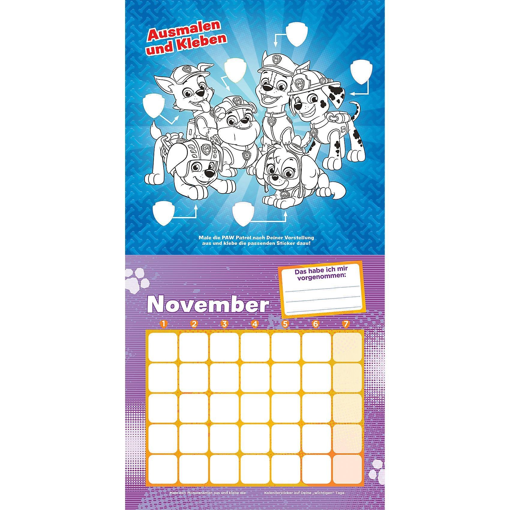 Panini Sticker Activity Kalender Paw Patrol