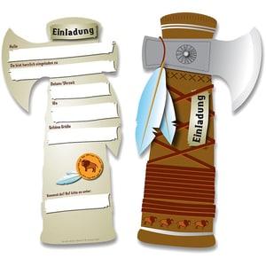 dh konzept Einladungskarten Tomahawk 6 Stück