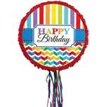 Amscan Pull-Pinata Bright Birthday