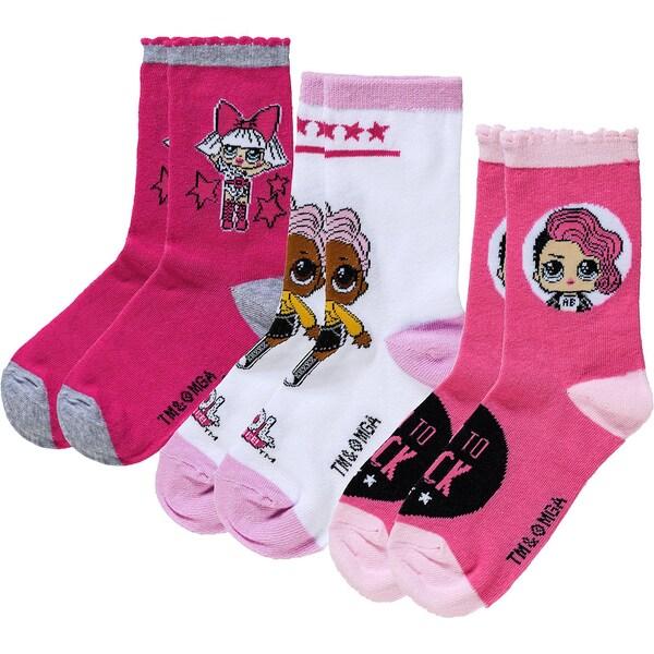 LOL Surprise 3er-Pack Socken für Mädchen