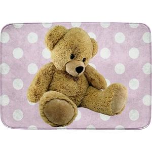 Achoka Kinderteppich Ultrasoft Teddybär Rosa 70 X 95 Cm