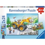 Ravensburger 2er Set Puzzle je 24 Teile 26x18 cm Bagger und Waldtraktor