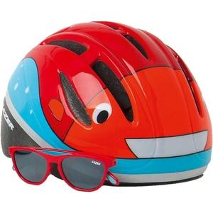 Lazer Fahrradhelm Bob Bulb und Sonnenbrille Set Gr. 46-52 cm rot