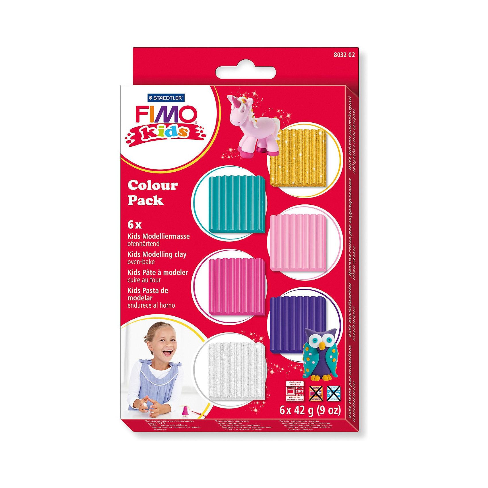 Staedtler Fimo kids Materialpackung girlie 6 x 42 g