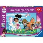 Ravensburger 2er Set Puzzle je 24 Teile 26x18 cm Nella: Abenteuer drinnen und draußen