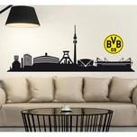 Borussia Dortmund Wandtattoo BVB Skyline mit Logo 2-tlg. 60 x 20 cm