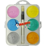 Amewi Malkasten Maxi 6 Perleffekt Aquarellfarben
