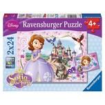 Ravensburger 2er Set Puzzle je 24 Teile 26x18 cm Disney Sofia die Erste: Sofias königliche Abenteuer