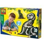SES Creative Gießen und anmalen - T-Rex mit Skelett
