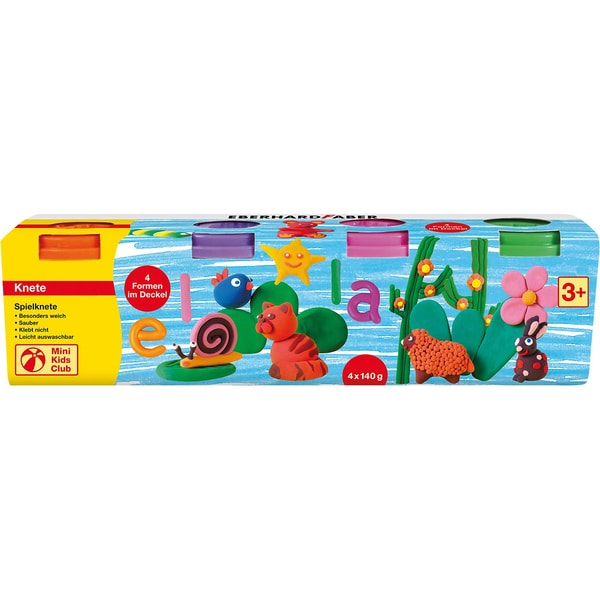 Eberhard Faber Mini Kids Spielknete Sonderfarben 4 x 140 g