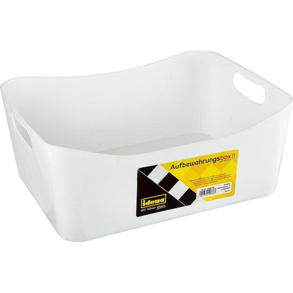 Idena Aufbewahrungs-Box Groß Weiß