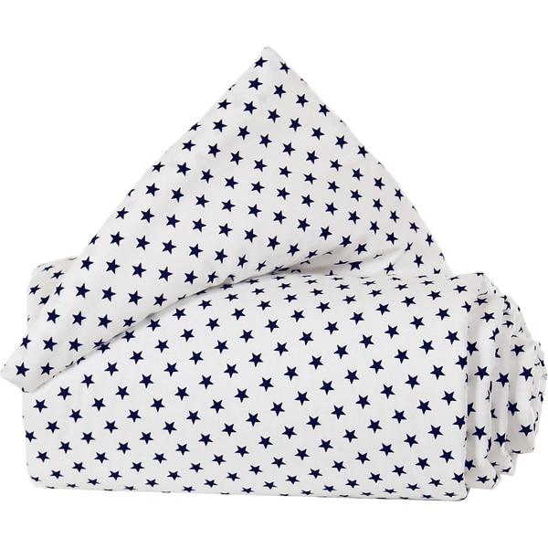 Tobi Gitterschutz Organic Cotton Für Verschlussgitter Alle Babybay Modelle Weiß Sterne Blau