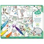 Djeco Mit Formen gestalten- Eine Welt kreieren- Tiere