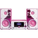 Lenco MC-020 Princess pink - Micro-Hifi-Anlage mit Radio Bluetooth und USB-Anschluß