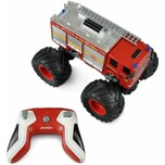 Amewi Monster Feuerwehr Truck 1:18 RTR rot mit LED Beleuchtung Sound