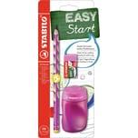 STABILO Bleistift EASYgraph Start Set Linkshänder pink 3-tlg.