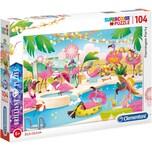 Clementoni Brillant Puzzle 104 Teile Flamingo Party