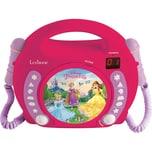 Lexibook Disney Princess Kinder CD-Player mit 2 Mikrofonen