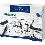 Faber-Castell PITT ARTIST Pens Tuschestift Manga Starterset 19-tlg. inkl. Gliederpuppe
