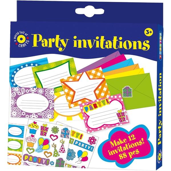 Playbox Bastelset Einladungskarten 88 Teile