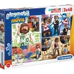 Clementoni Puzzle 3 x 48 Teile Supercolor Playmobil the Movie