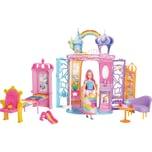 Mattel Barbie Dreamtopia Regenbogen-Königreich Schloss und Puppe