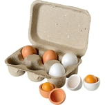 JOHN Eierbox mit 6 Holz-Eiern