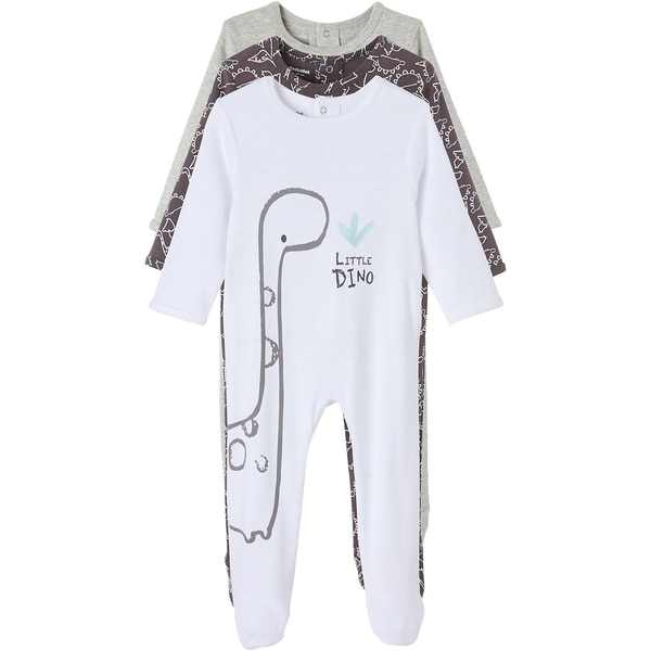 vertbaudet Baby Schlafanzug 3er-Pack für Jungen