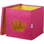 STORE IT! Aufbewahrungsbox Krone mit Sichtfenster rosa
