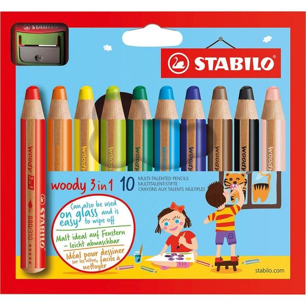 Stabilo Buntstifte woody 3 in 1 inkl. Spitzer 10 Farben