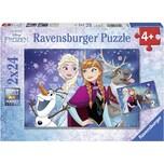 Ravensburger 2er Set Puzzle je 24 Teile 26x18 cm Disney Die Eiskönigin Nordlichter