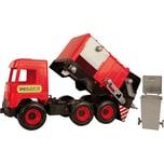 Wader Wozniak Middle Truck Müllwagen 42 cm rot