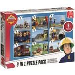 Jumbo 9in1 Puzzle Mix Feuerwehrmann Sam 12/24/35/50 Teile
