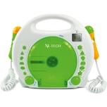 X4-Tech Kinder CD Player Bobby Joey mit Akku, USB/MP3 und Mikrofone