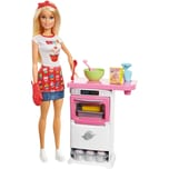 Mattel Barbie Cooking Baking Bäckerin Puppe Spielset