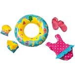 Heless Badeanzug Clogs Schwimmring und -flügel