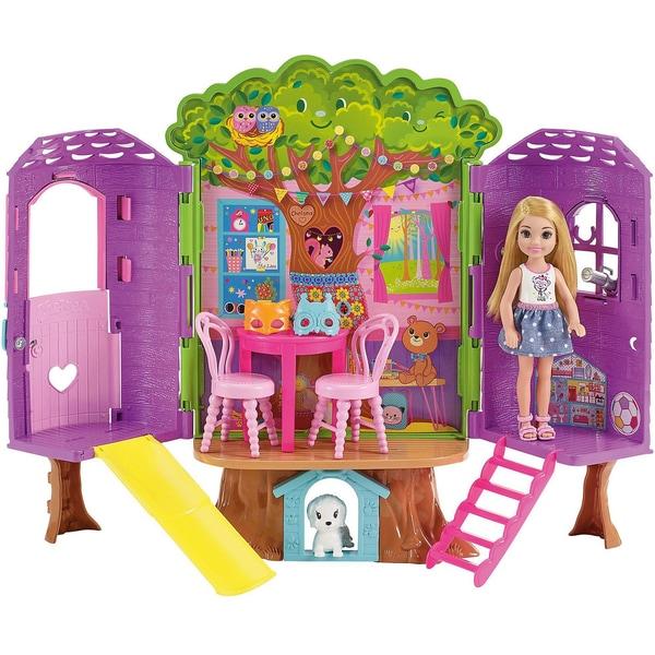 Mattel Barbie Chelsea Baumhaus Spielset und Puppe