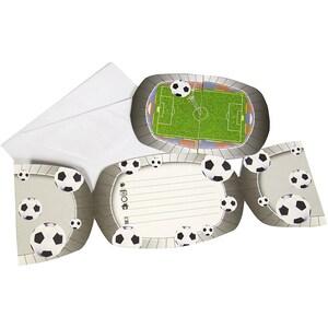 Folat Einladungskarten Fussball inkl. Umschläge 8 Stück