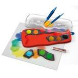 Faber-Castell CONNECTOR Deckfarbkasten rot 12 Farben inkl. Deckweiß