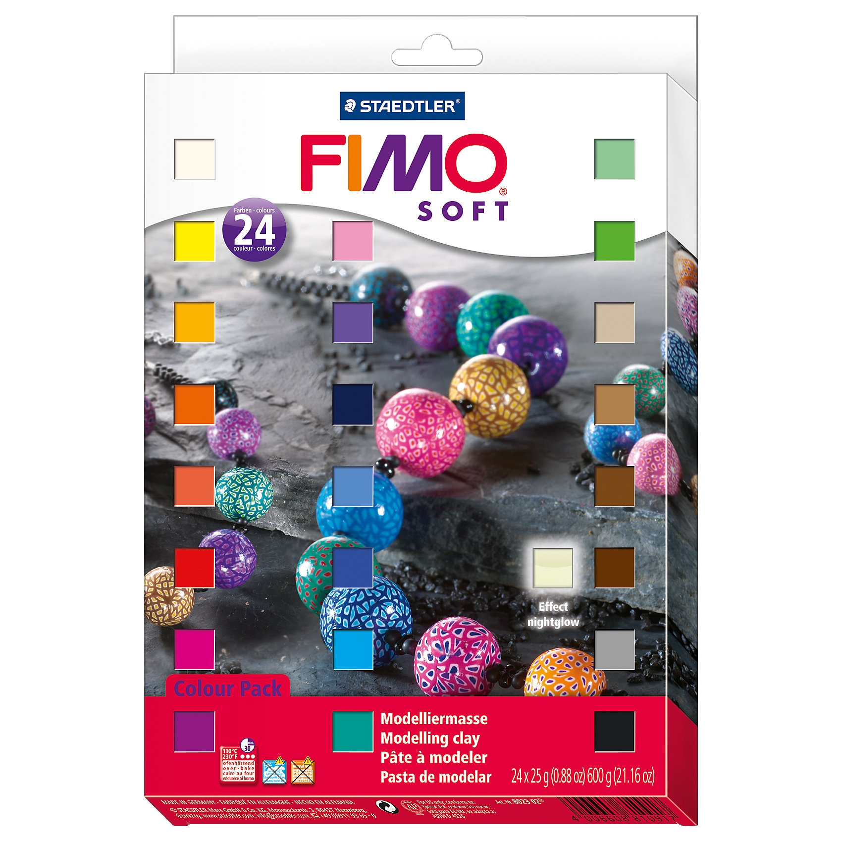 Staedtler Fimo soft Materialpackung Colour Pack 24 x 25 g