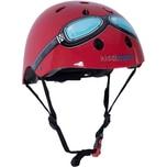 kiddimoto Fahrradhelm - Red Goggle Rot Pilot - M 53-58cm