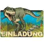 TapirElla Einladungskarten Dinosaurier T-Rex 8 Stück inkl. Umschläge