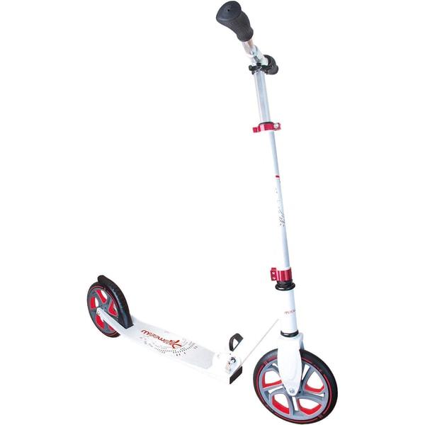 Muuwmi Aluminium Scooter Pro weiß-grau-rot 215mm